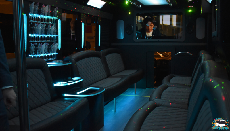 26 PAX Black Interior Light by the NYC Party Bus Pros