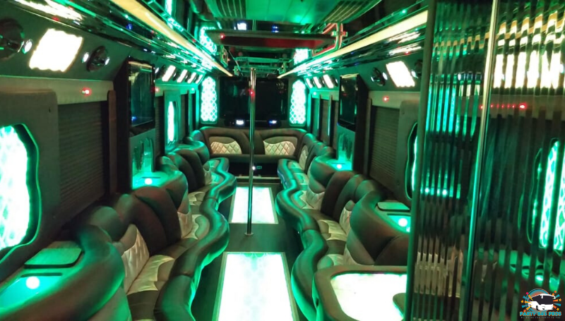 40 PAX Interior by the NYC Party Bus Pros