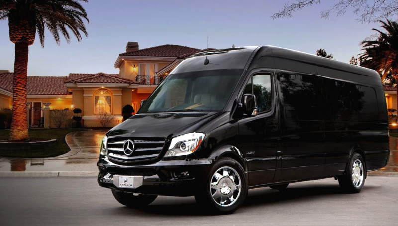 Sprinter Party Bus Front by the NYC Party Bus Pros