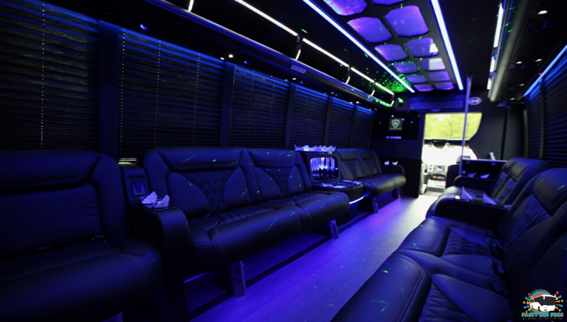 20 PAX Interior by the NYC Party Bus Pros
