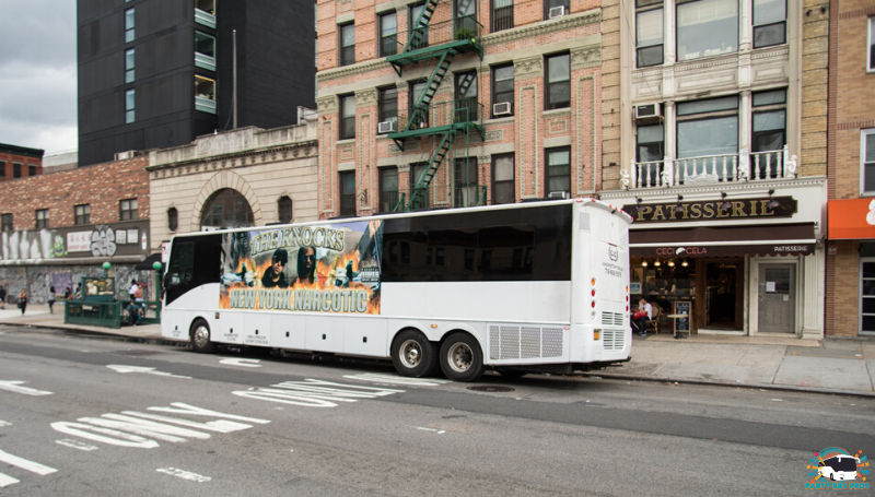 50 PAX Exterior Wrap by NYC Party Bus Pros