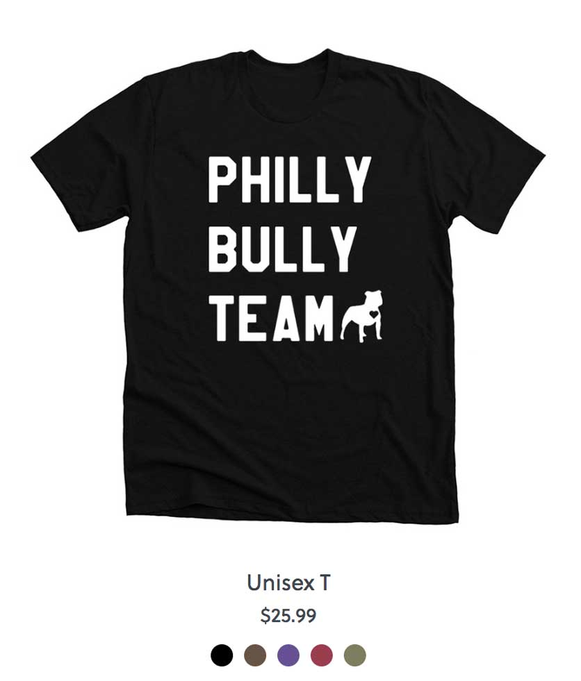 Philly Bully Team Shirt Black