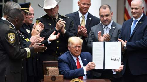 President Trump signs an Executive Order to Reform the Police