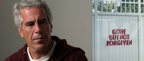 Jeffrey Epstein's Palm Beach House Defaced : Gone But Not Forgiven
