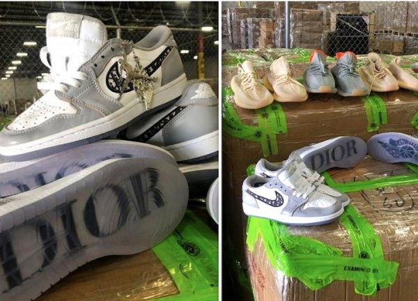 USA Border Custom Seize $4.3M Worth of Fake Dior X air Jordan, Yeezy Shoes