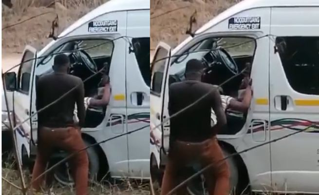 A South African Bus Driver Nabbed While Giving A Lady Hot Doggy Style
