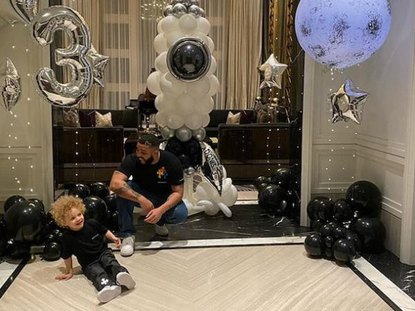 Drake Celebrates Son Adonis' Third Birthday With Grandparents in Toronto
