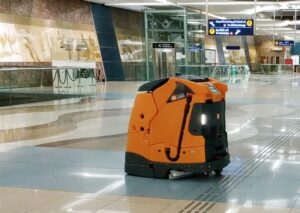 Dubai Robots cleaning Metro stations