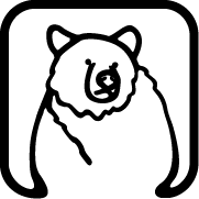Custom graphic of a bear