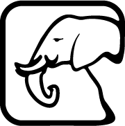 Custom graphic of a elephant