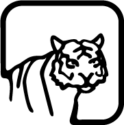 Custom graphic of a Tiger