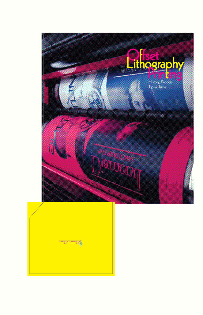 Offset Lithography Printing brochure jacket