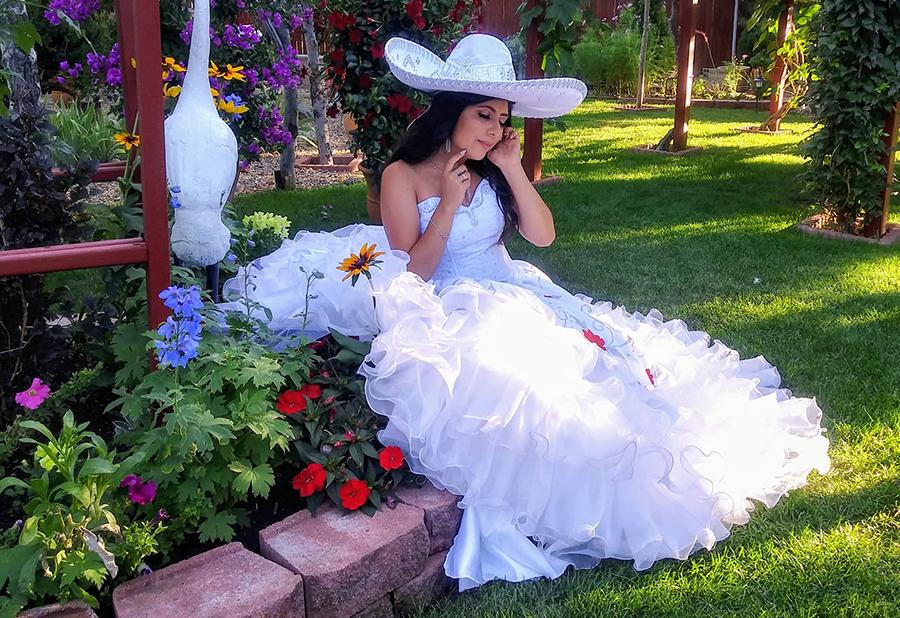 Con sombrero blanco