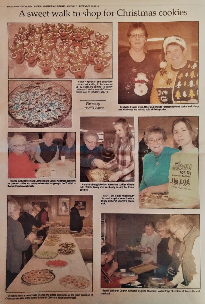 Cookie Walk-2016-Newspaper