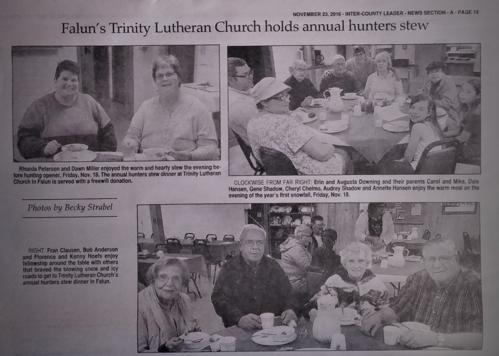 Hunters Stew-Newspaper