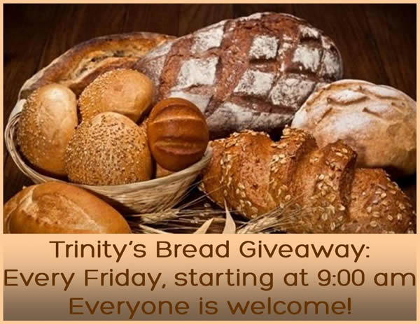 Trinity Lutheran Church of Falun, Wisconsin bread giveaway every Friday