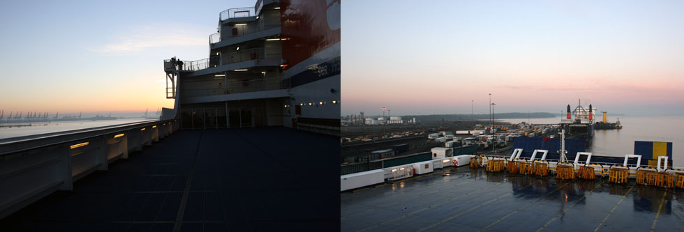 Arrival at Harwich