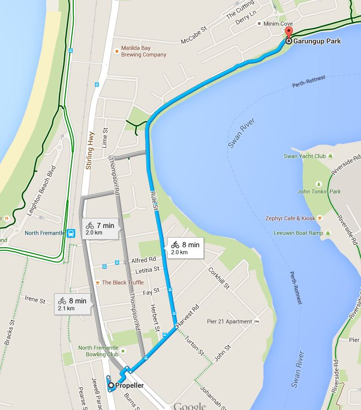 Section two - North Fremantle to Minim Cove