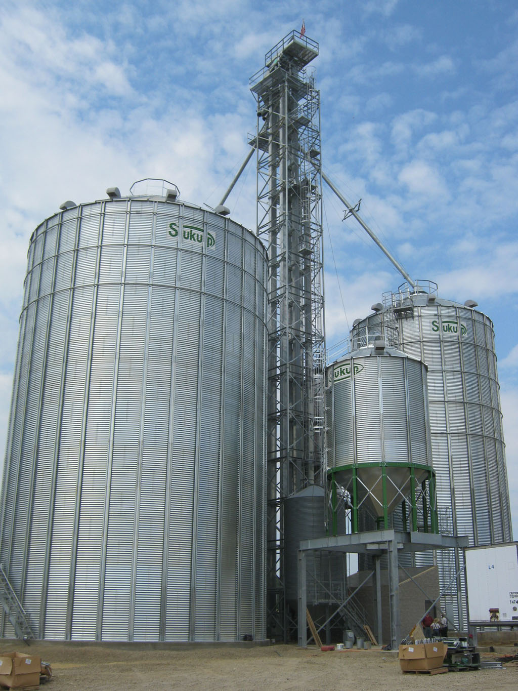 Sukup Bucket Elevator with galvanized tower