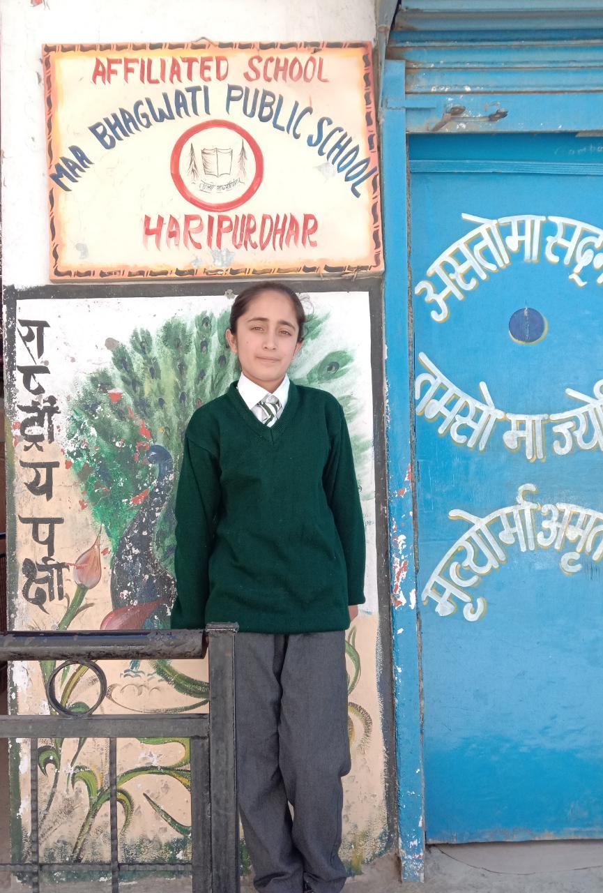 हरिपुरधार :  तान्या राणा ने नवोदय की नौवीं कक्षा की प्रवेश परीक्षा पास की