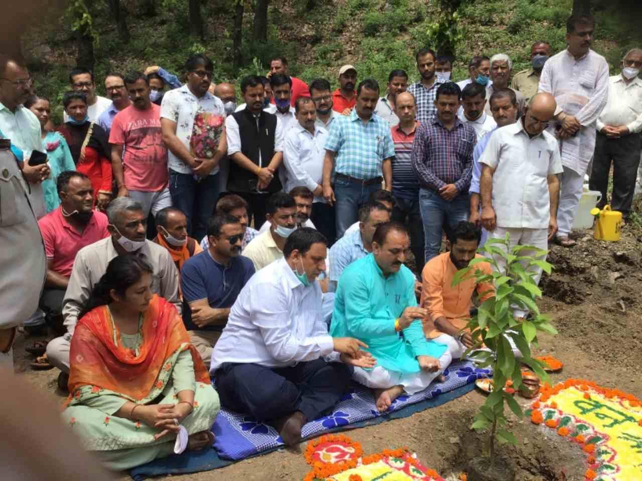 खाद्य आपूर्ति निगम के उपाध्यक्ष बलदेव तोमर ने रूद्राक्ष का पौधा लगा कर 72वां वन महोत्सव कार्यक्रम का शुभारंभ किया।