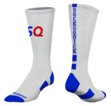 private label program sock example blue stripe logo