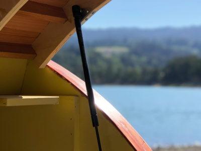 Teardrop Trailer hatch door