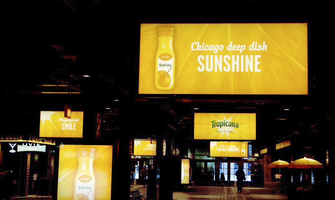 Tropicana Event Backlit Sign