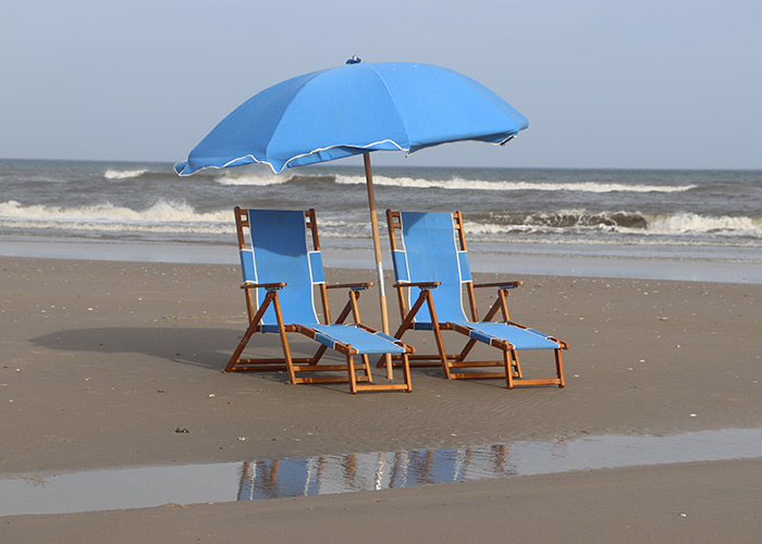 canvasback beach chairs and umbrellas in OBX for rent