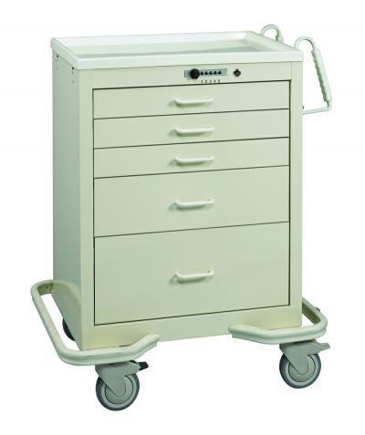 Anesthesia Carts (5 Drawer Push Button Lock)