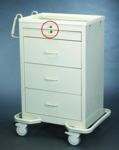 Medication Cart (Punch Card 4 Drawer) - Medicine Carts