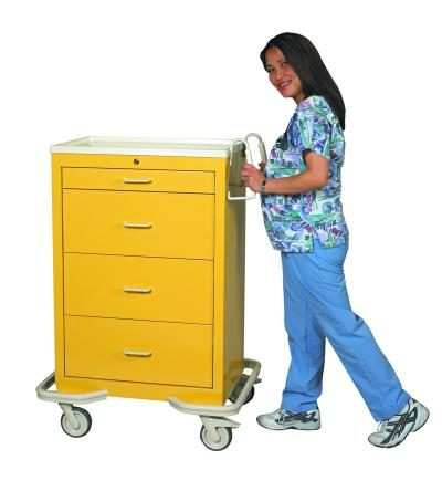 Hospital Isolation Carts (Standard 4 Drawer)