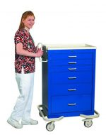 Anesthesia Carts (6 Drawer Key Lock MKS-630-DB)