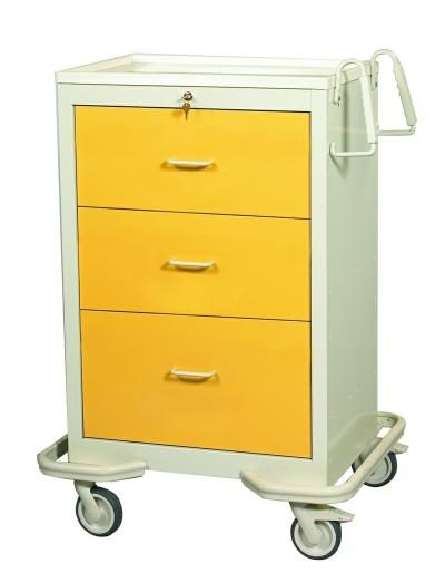 Hospital Isolation Carts (Standard 3 Drawer)
