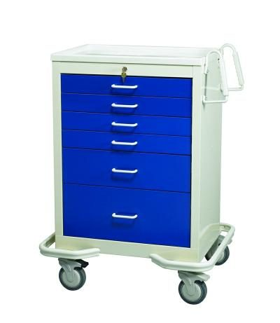 Anesthesia Carts (6 Drawer Key Lock MKT-627-DB)