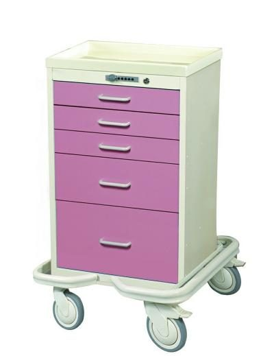 Mini Medical Tower (5 Drawer Tower w/Push Button Lock)