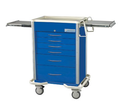 Anesthesia Carts (SELECT Electronic Lock - 6 Drawer Cart SES-627A-DB)