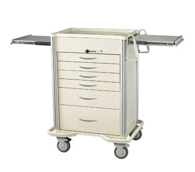 Anesthesia Carts (SELECT Push Button Lock - 6 Drawer Cart SIS-627A-B)