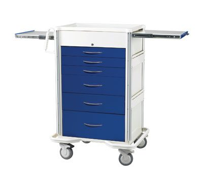 Anesthesia Carts (SELECT Key Lock - 6 Drawer Cart SKT-630A-DB)