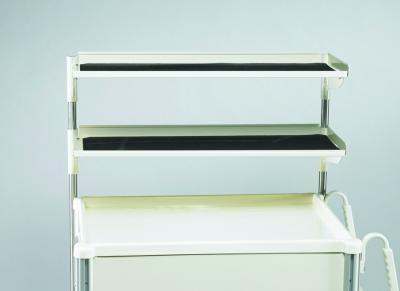Medical Cart Accessories - Shelving - Narrow Double Shelf