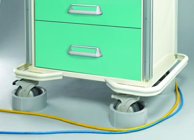 Medical Cart Accessories - Caster Guard