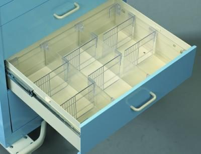 "Medical Cart Accessories - Drawer Dividers - 6"" Set (TDV-6)"