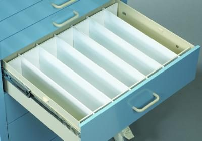 "Medical Cart Accessories - Drawer Dividers - Mini 6"" Set (TEF-6M)"