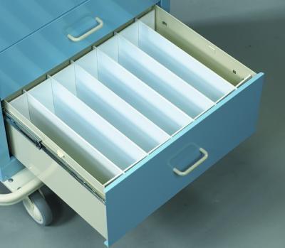 "Medical Cart Accessories - Drawer Dividers - Mini 9"" Set (TEF-9M)"