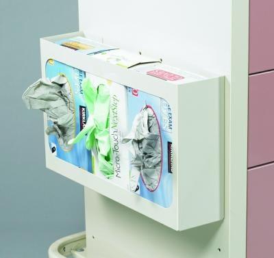Medical Cart Accessories - Triple Glove Box Holders