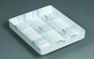 """Medical Cart Accessories - Mini Cart Tray - 3"""" Drawer (TMH-11)"""