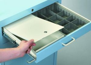 "Medical Cart Accessories - Drawer Security Box - 3"" Drawer"