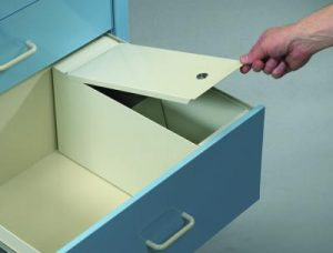 """Medical Cart Accessories - Drawer Security Box - 9"""" Drawer"""
