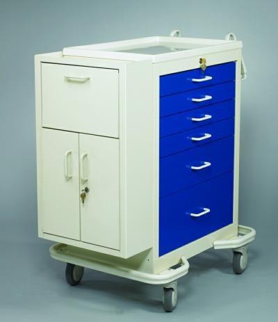 Medication Cart (Punch Card Side Cabinet) - Medicine Carts