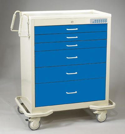 Wide Medical Cart w/Electronic Lock